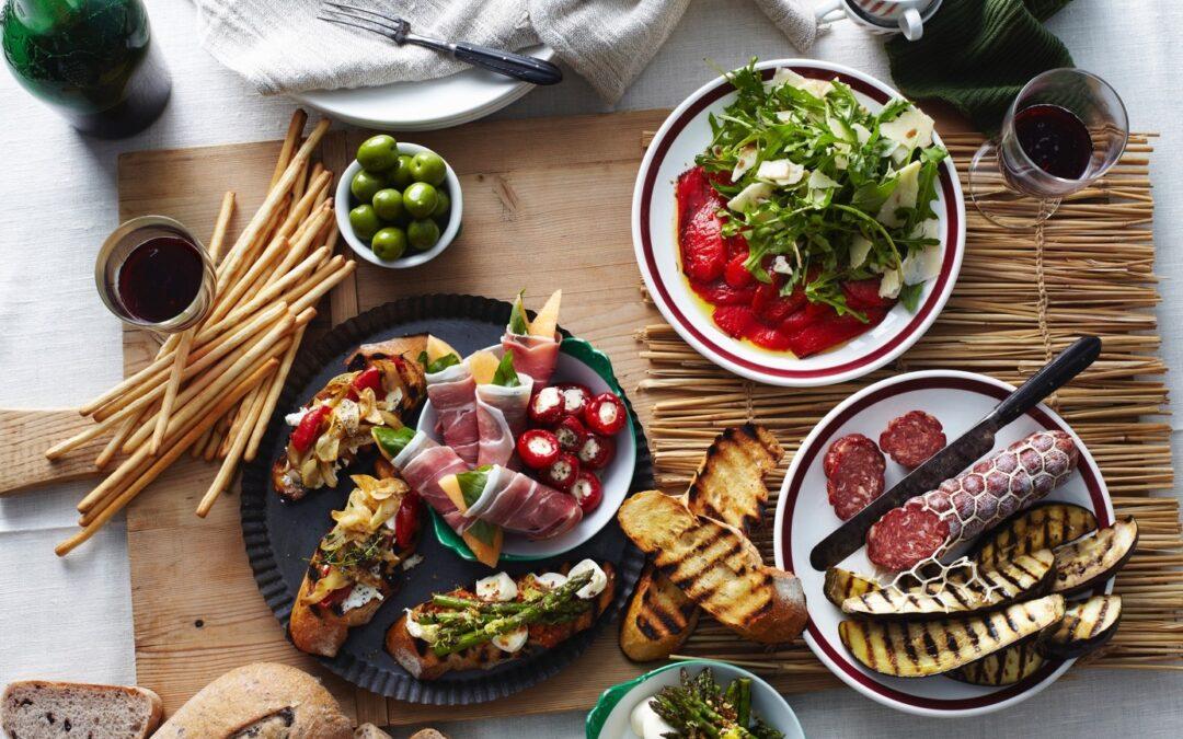 La cuisine italienne revisitée par un traiteur de luxe.
